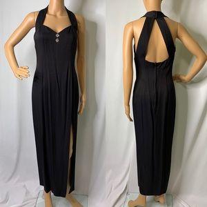 Gunne Sax sexy black dress Size 7/8